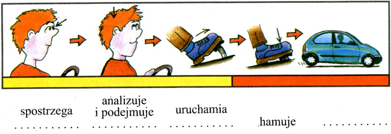 analizy części składowych drogi hamowania